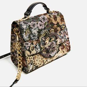 Like new Zara tapestry bag